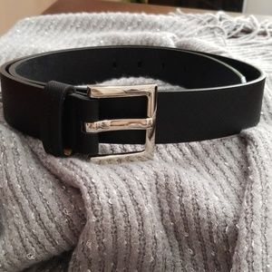 Calvin Klein Black Vegan Belt